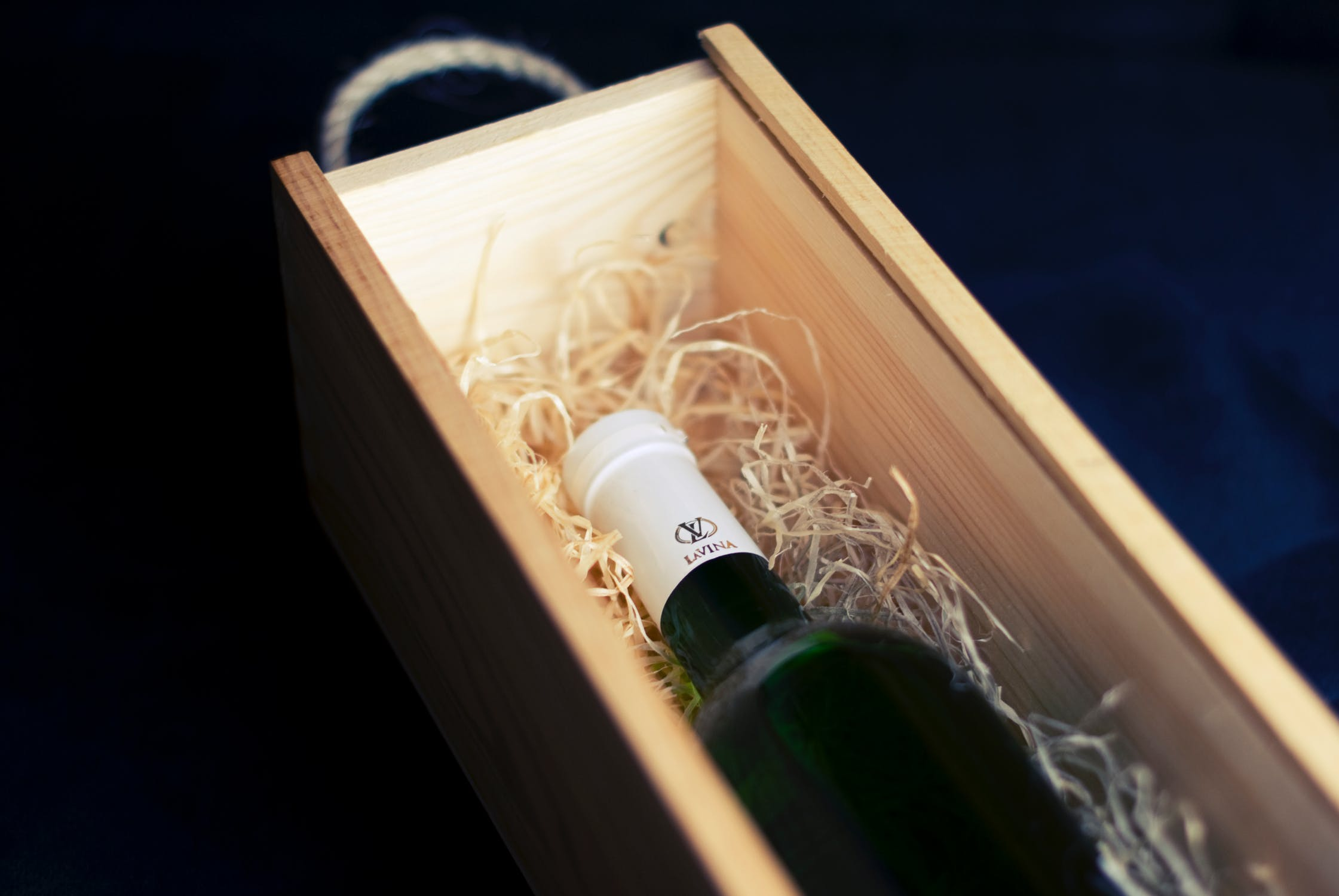 Vin i kasse